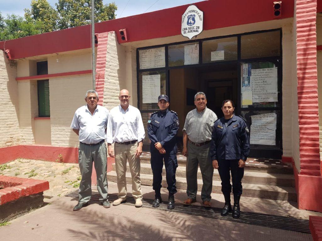 El ministro de Seguridad Ekel Meyer recorrió Rodeito, El Piquete y Santa Clara
